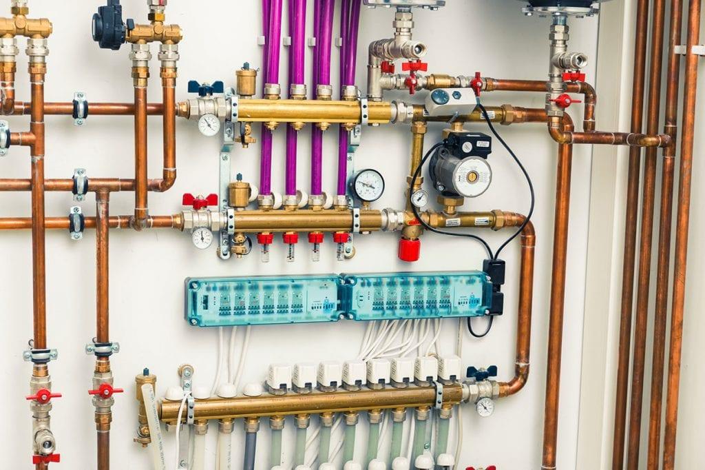 Underfloor Heating System in Boiler Room
